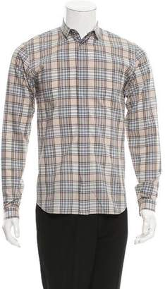 Christian Dior Plaid Button-Up Shirt