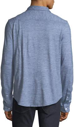 Original Penguin Men's Jaspe-Knit Sport Shirt, Blue