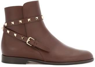 Valentino Rockstud strap boots