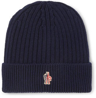 Moncler Ribbed Virgin Wool Beanie