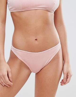 Missguided Velvet Bikini Brief