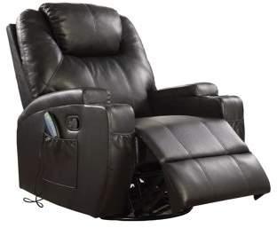 ACME Furniture ACME Waterlily Swivel Rocker Recliner with Massage in Black