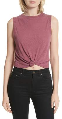 Twenty Lexington Knot Front Jersey Crop Tank