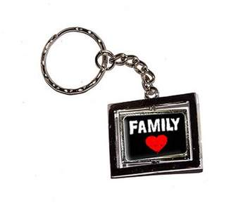 Generic Family Love Red Heart New Keychain Ring