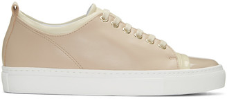 Lanvin Pink Colorblocked Sneakers $595 thestylecure.com