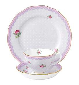 Royal Albert Candy Collection 3Pc Set Love Lilac