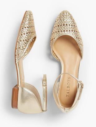 Edison Woven D'Orsay Flats - Metallic Leather $119 thestylecure.com