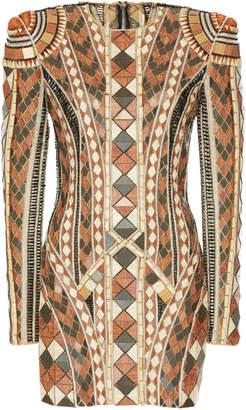 Balmain Wood Embroidery Dress