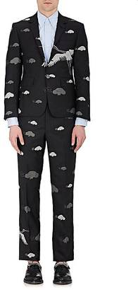 Thom Browne THOM BROWNE MEN'S CRANE-EMBROIDERED WOOL-CASHMERE THREE-BUTTON SPORTCOAT $8,900 thestylecure.com