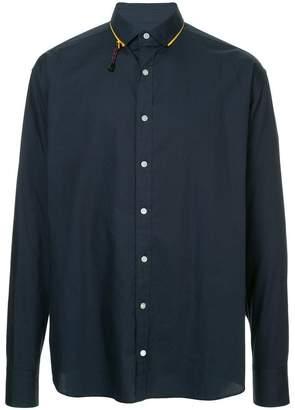 Kolor contrast collar detail shirt