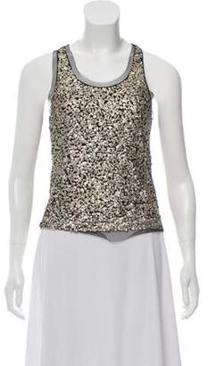 Gryphon Sequin Embellished Sleeveless Top