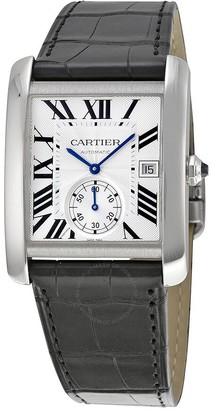 Cartier Tank MC Automatic Silver Dial Men's Watch