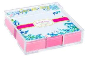 Lilly Pulitzer Wade & Sea Notepads & Holder