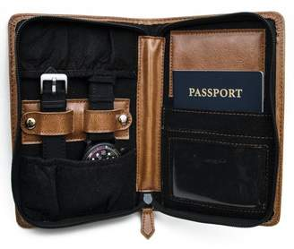 J.Ciro Watches Leather Travel Timepiece Wallet