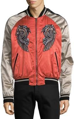 Roberto Cavalli Men's Embroidered Graphic Bomber Jacket