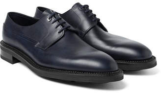 John Lobb Croft Panelled Leather Oxford Shoes - Midnight blue