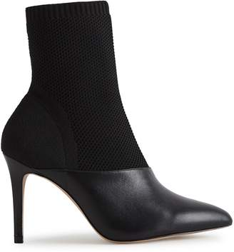 Reiss COSMOS KNITTED ANKLE BOOTS Black