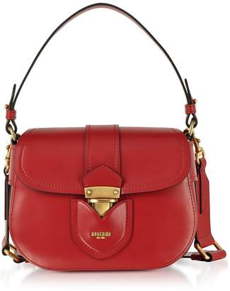 Moschino Red Leather Crossbody Bag