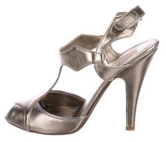 Valentino Metallic Leather Sandals