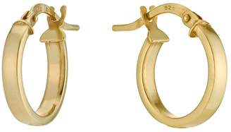Together Silver & 9ct Bonded Gold 10mm Creole Hoop Earrings