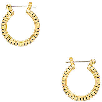 Luv Aj The Baby Snake Chain Hoops