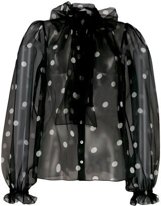 Dolce & Gabbana polka-dot blouse