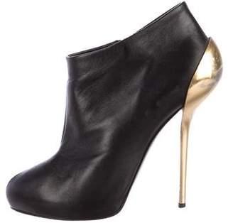Giuseppe Zanotti Leather Platform Ankle Boots