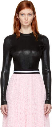 Christopher Kane Black Ribbed Foil Jumper