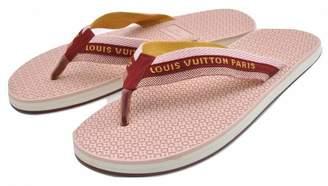 Louis Vuitton Red Rubber Sandals