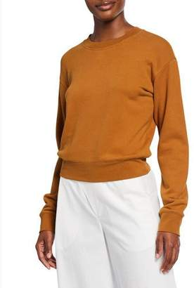 Vince Crewneck Long-Sleeve Cotton Pullover