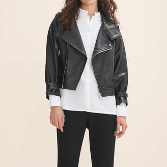 Maje Fitted leather jacket