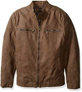 Urban Republic Mens Pu Suede Faux Leather Jacket