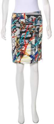 Common Projects Woman by Digital Print Mini Skirt