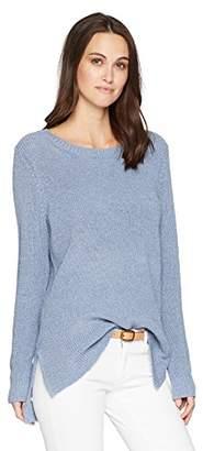 Kensie Women's Indigo Mix Knit Sweater