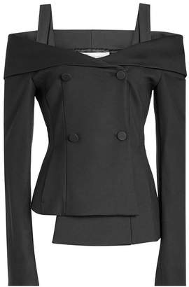 Off-White Off-Shoulder Tailored Jacket