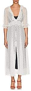 Leone WE ARE Women's Polka Dot- & Star-Print Crinkled Silk Cardigan-White