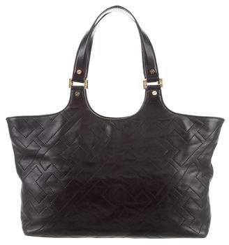 Tory Burch Quilted Leather Logo Tote