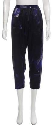Ilaria Nistri High-Rise Printed Silk Pants