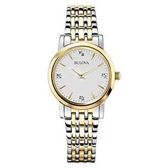 Bulova Women's 98P115 Diamond Accented Silver-Tone Bracelet Watch