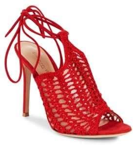 Gianvito Rossi Crochet Ankle Strap Sandals