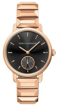 Rebecca Minkoff Bffl Rose Gold Bracelet Watch,36Mm