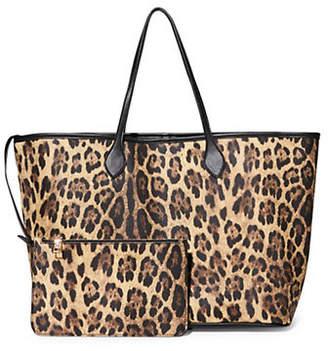 Steve Madden Lindy Large Leopard-Print Shopper