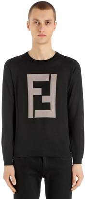 Fendi Ff Cashmere Silk Sheer Knit Sweater