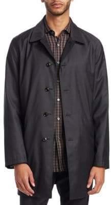 Ermenegildo Zegna Men's Cotton Rain Coat - Dark Grey Solid - Size 56 (46)