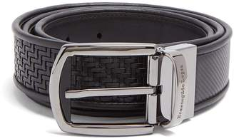 Ermenegildo Zegna Reversible woven-leather belt