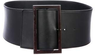 e696187f8 Salvatore Ferragamo Wide Leather Belt