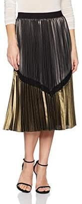 BCBGMAXAZRIA Women's Toni Woven Pleated Skirt