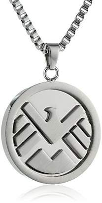 Marvel Comics Unisex Shield Logo Stainless Steel Chain Pendant Necklace