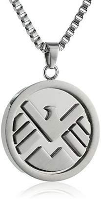 Marvel Comics Unisex Shield Logo Stainless Steel Chain Pendant Necklace
