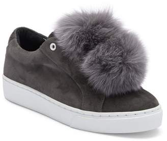 Here \u002F Now Heather Genuine Fox Fur Pompoms Sneaker
